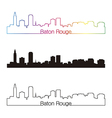 Baton Rouge skyline linear style with rainbow vector image vector image