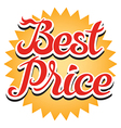 Best Price Sticker vector image