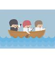 Businessman rowing team Teamwork and Leadership c vector image vector image
