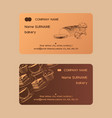 cafe menu business card sweet desserts vector image
