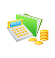 cashier machine and coin vector image