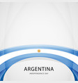 celebrating argentina independence day vector image