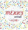 christmas card with confetti vector image vector image