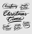 christmas time handwriting calligraphy vector image vector image