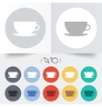 Coffee cup sign icon Coffee button vector image