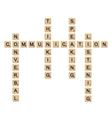 Communication concept board game vector image vector image