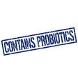 contains probiotics stamp vector image vector image