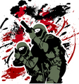 elite soldiers vector image vector image