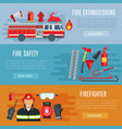 firefighting or fire safety banners vector image vector image
