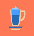 flat icon on background coffee cup of latte vector image