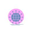 globe network arrow news worldwide glyph icon vector image vector image