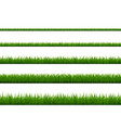 green grass border collection isolated white vector image vector image