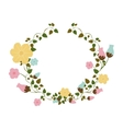 half ornament creepers with flowers vector image
