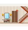 Hall with stairs and furniture vector image