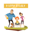 Happy family With Disabled Kid vector image