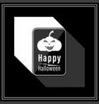 happy halloween modern style in black and white vector image vector image