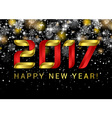 Happy new year 2017 Black space abstraction Happy vector image vector image