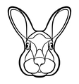 head a rabbit hare coloring vector image vector image