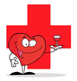 Heart waiter cartoon vector image vector image