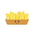 kawaii french fries vector image vector image