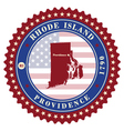 label sticker cards state rhode island usa vector image