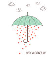 lovely rain vector image vector image