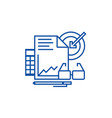 marketing analytics line icon concept marketing vector image vector image