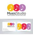 music studio logo design vector image vector image