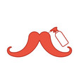 mustache with spray bottle barber product vector image vector image