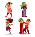 naughty children misbehavior vector image