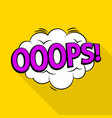 oops icon pop art style vector image