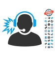 Operator Message Icon With Free Bonus vector image vector image