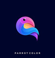 parrot colorful design template vector image