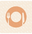 pattern plates and cutlery vector image vector image