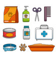 pet shop set icons vector image vector image