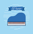 piano jazz instrument musical festival celebration vector image vector image
