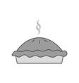 Pie dessert icon vector image