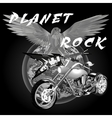 planet rock vector image vector image