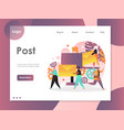 post website landing page design template vector image vector image