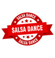 salsa dance ribbon salsa dance round red sign vector image vector image