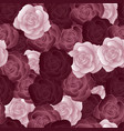 seamless pattern with dark roses vector image