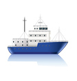 Small ship isolated on white vector image