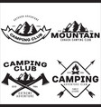 Summer camp with design elements camping