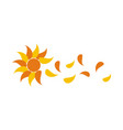 sun flower flowing vector image vector image