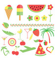 symbol and food in three color vector image
