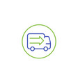 transport delivery truck line icon vector image vector image