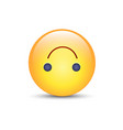 Upside-down happy emoticon cartoon cute emoji