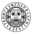 viking old norse design scandinavian god odin vector image
