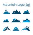 Mountain logo set rocky terrain nature landscape vector image