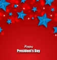 Abstract Stars Background for Happy Presidents Day vector image vector image